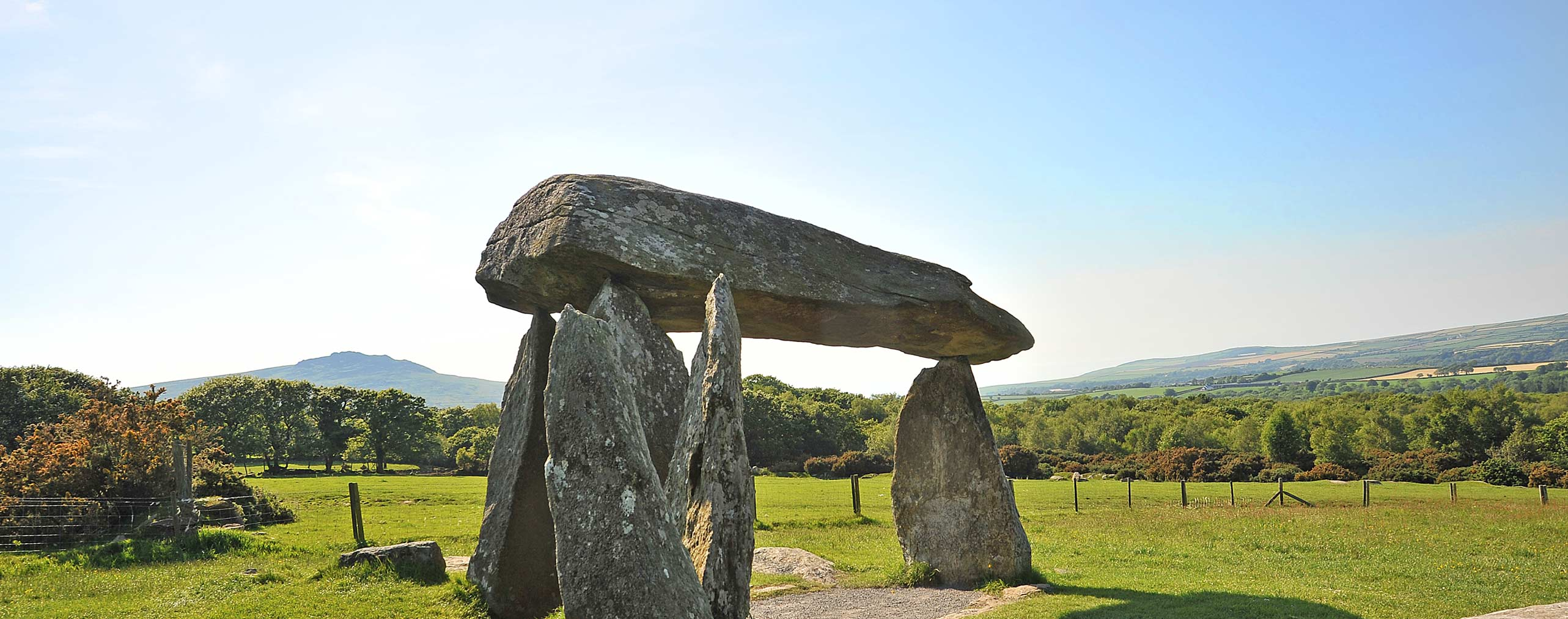 Pentre Ifan with Carningli Mountain behind
