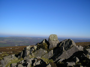 View from the summit of Carningli