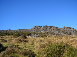 Ancient fort on summit of Carningli