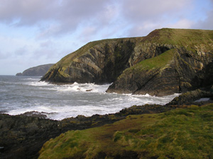 Ceibwr Bay, along part of the Pembrokeshire Coastal Path