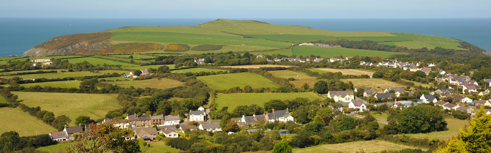 View of Dinas Cross Village