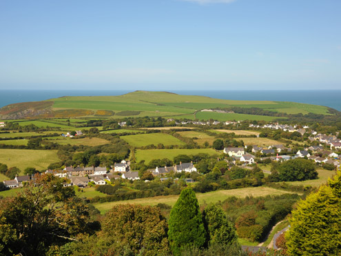 Panoramic from Dinas View Point
