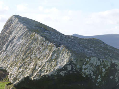 Following the contours of Carningli Mountain