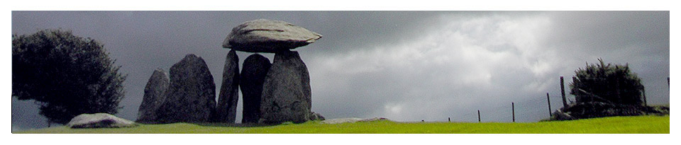 Moody view of Pentre Ifan