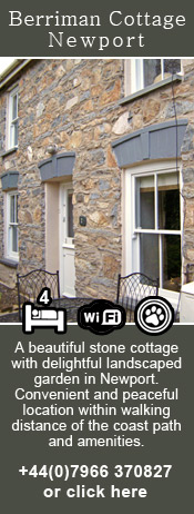 Berriman Holiday Cottage in Newport, Pembrokeshire