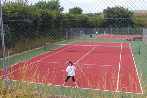 Tennis players making use of Newport Pembrokeshire's Tennis Courts
